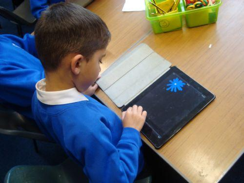 We made firework pictures on the iPads!