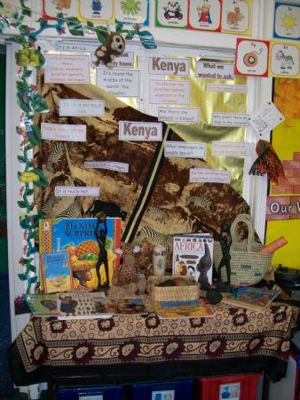 Display inspired by our Kenyan visitors