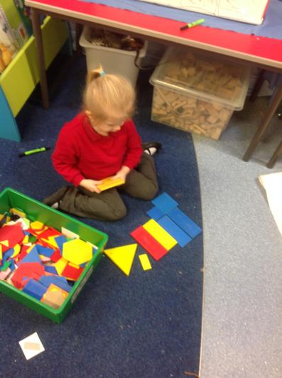 We have looked at shapes and colours.