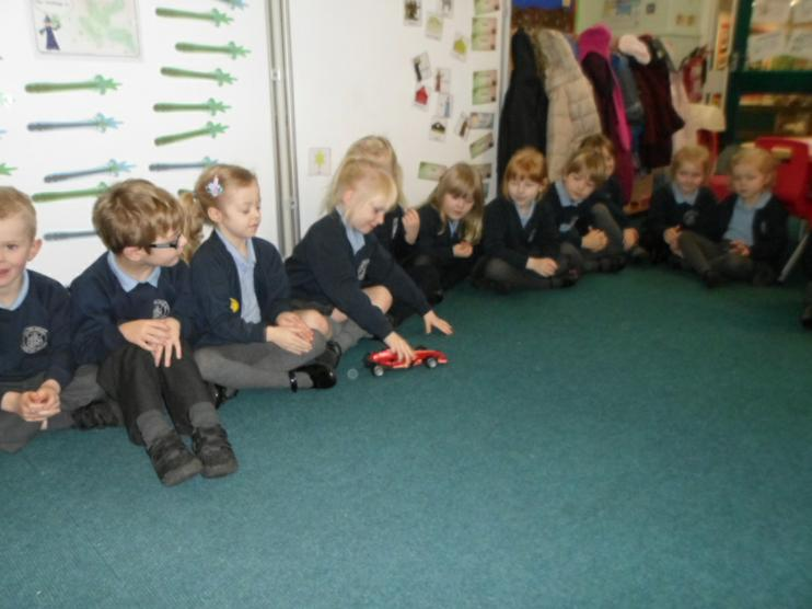 Reception was very impressed with the racing car