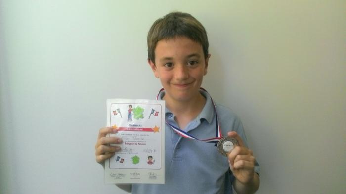 Evan - French Language Award