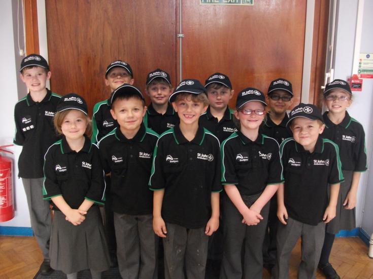 Wednesbury Badgers wearing the new St John Uniform