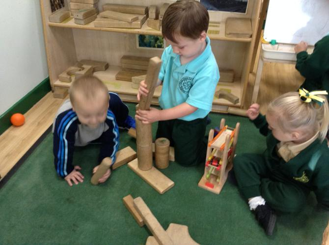 We enjoy building  towers together.