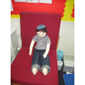Samuel enjoyed coming into Orange Class.