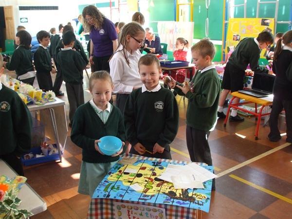 Year 2 children made a treasure hunt game.