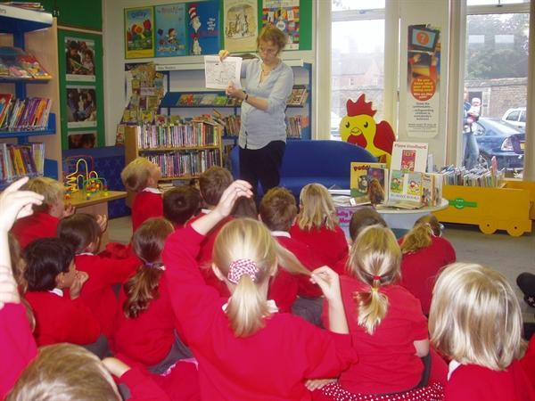 A fantastic trip to Oakham Library!