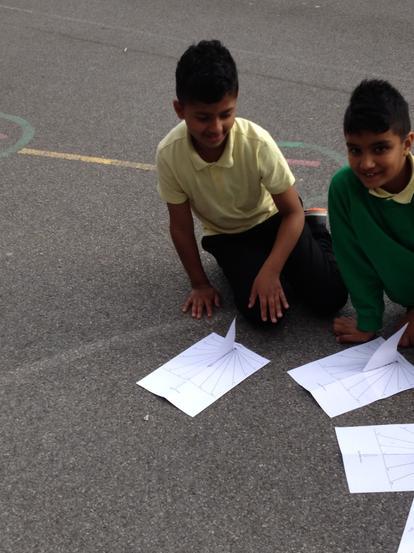 We made sundials.