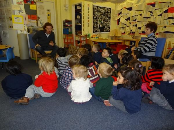 Book Week - Listening to stories with Giles Abbott