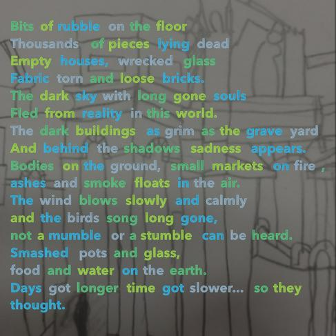 WWII poem created using the 'app' Visual Poetry