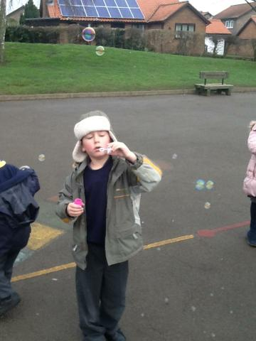 Learning how to blow a bubble