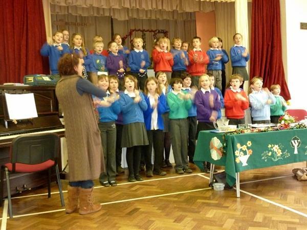 Christmas Choir - singing their hearts out!