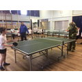 It joined in with table tennis club!