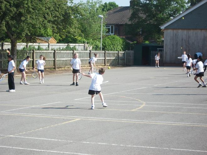 We benefit from two playgrounds and a sports field