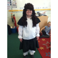 We dresseed up as Samuel Pepys.