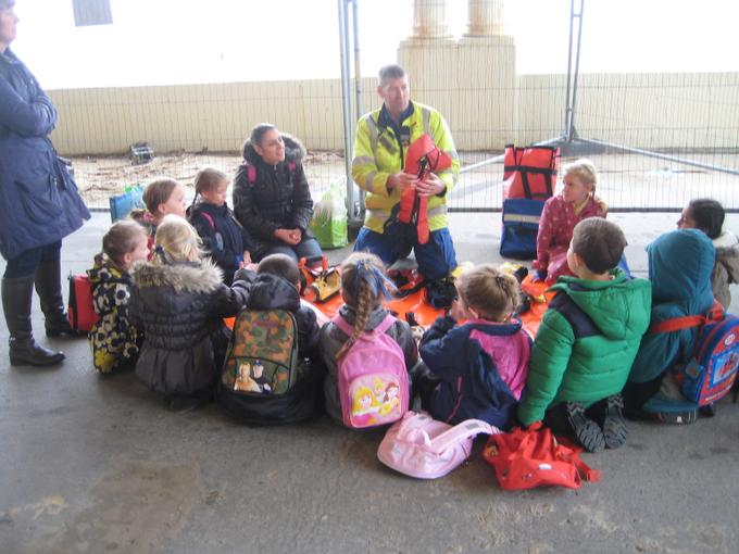 Learning all about life jackets.