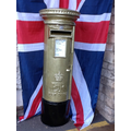 Trull post box painted gold