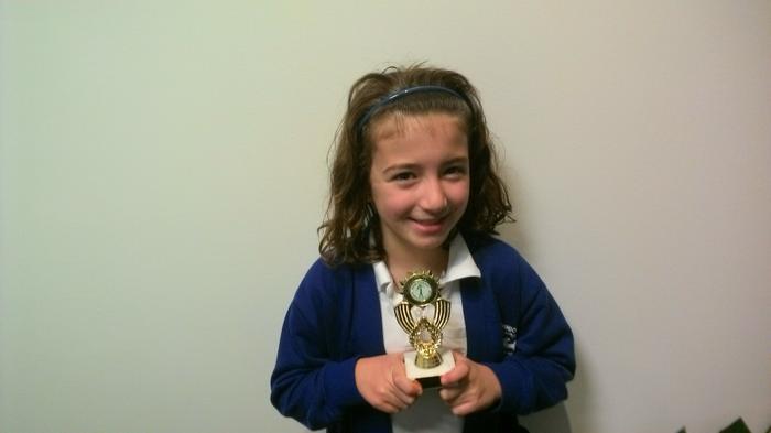 Phoebe - Gymnastics award