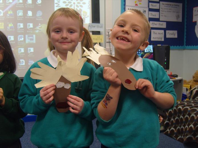 We had fun making our reindeers!