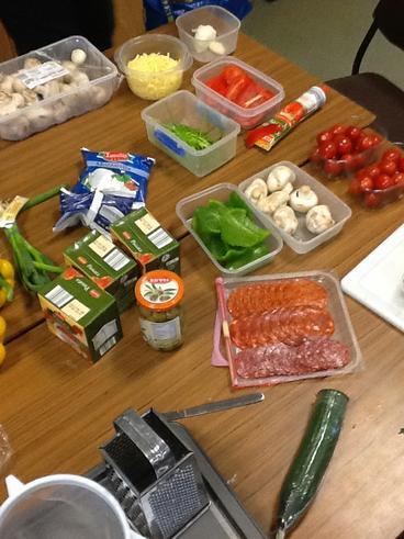 Preparing our ingredients