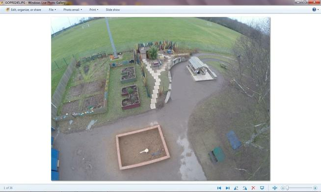 Pupil allotments and outdoor Nursery playground