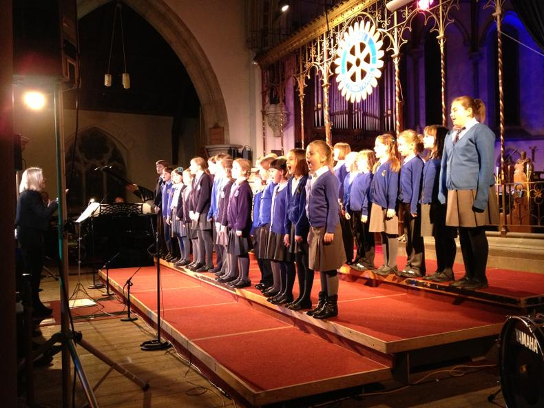 Our school choir at the Magic of Christmas Concert