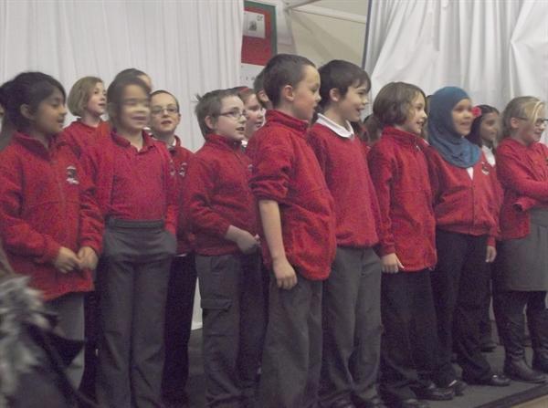 Out choir sing at the Xmas Market
