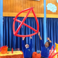 A triangular based pyramid or a tetrahedron!