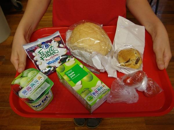 Sample picnic lunch
