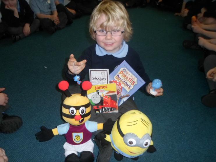 Bertie Bee came into school.