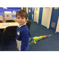 A brontosaurus swishing his fabulous tail!