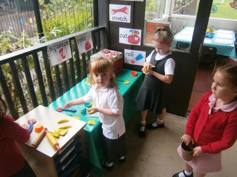 Our playdough station