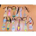The girls made lovely dolls.