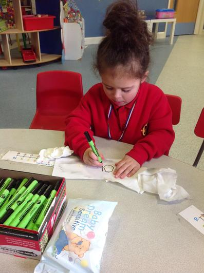 We are learning to write our own names.