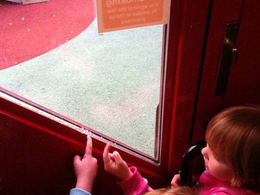 Slime on the door!