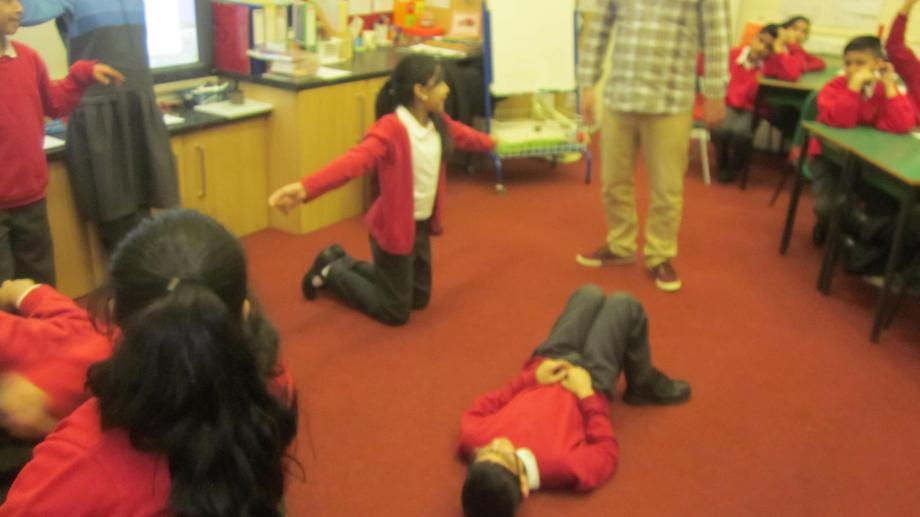 Children becoming props in their settings.