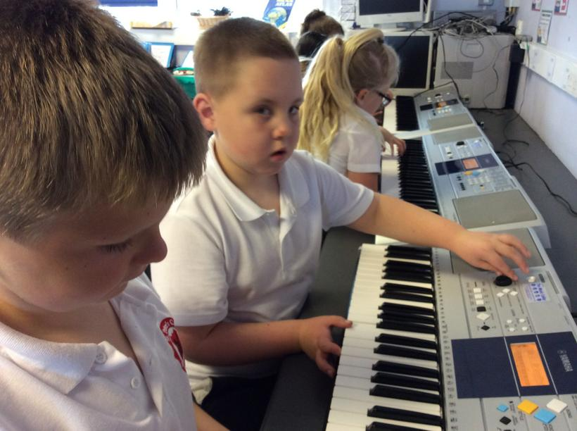 Learning to play the keyboard