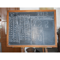 A victorian blackboard.