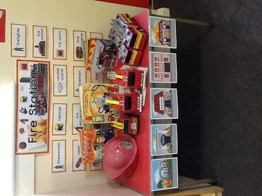 Our fire fighter toys.