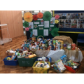 Harvest food collected for a local foodbank
