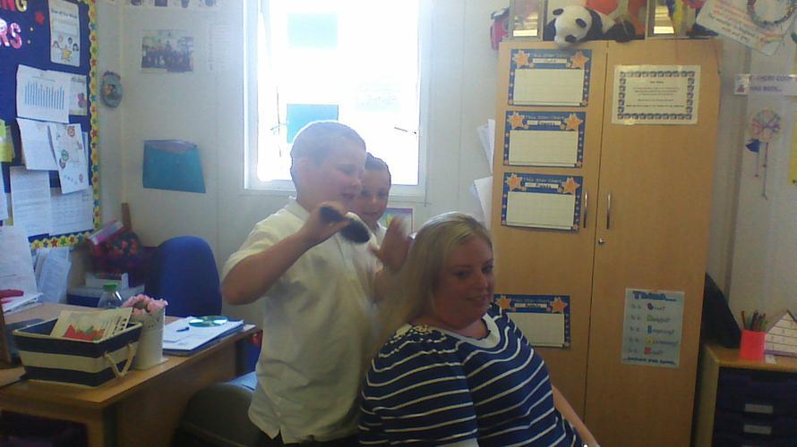 Harry was making Miss Arnott sleepy! Zzzzz