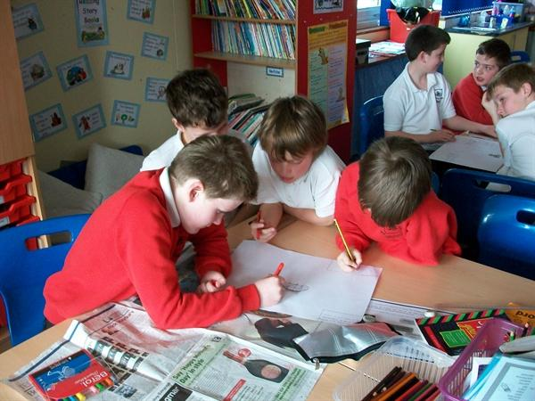Y3&5 working together on change for climate day.
