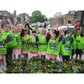 Planting flowers at Walton Vale