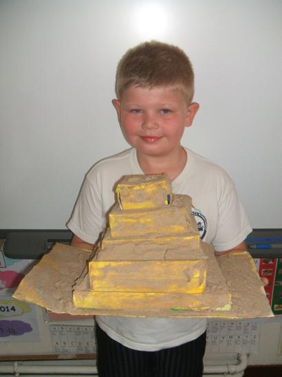 My sandy pyramid.
