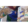 Using partitioning to make the two digit numbers.