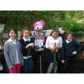 The team from 4HC with their scarecrow at A. Abbey