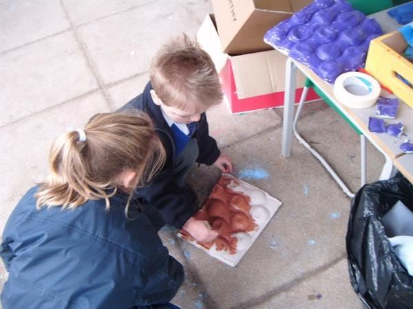 We were busy making our very own Gruffalo!