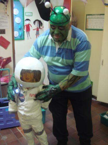 Learning about space! (and aliens!)