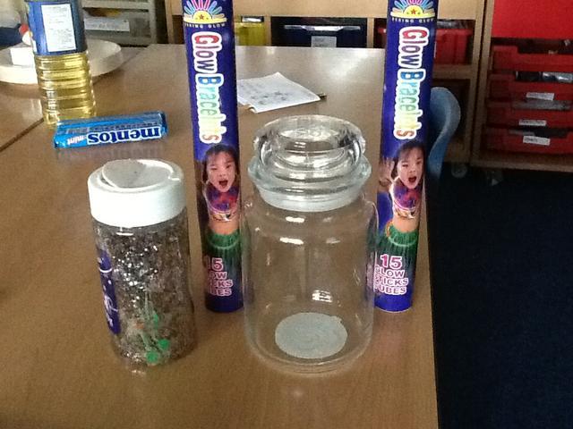 Ingredients for Fairies in a jar.