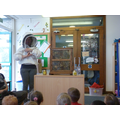 A visit from the beekeeper Mrs Helen Amey