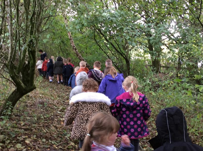 As we walked we heard the leaves crunch
